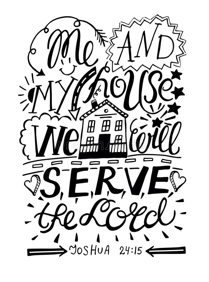 Рука помечая буквами меня и мой дом мы будем служить лорд в черном цвете иллюстрация вектора