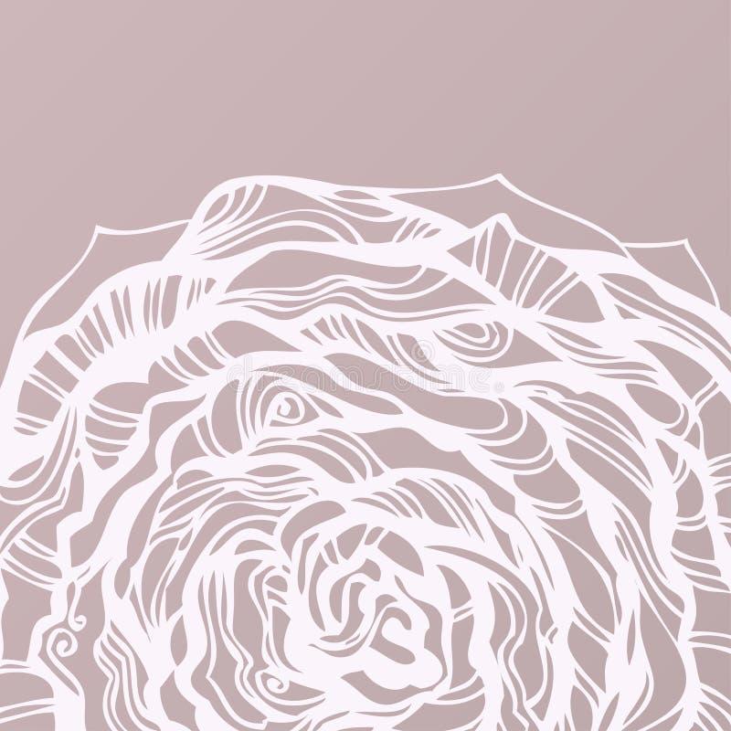 рука предпосылки круговая нарисованная флористическая иллюстрация вектора