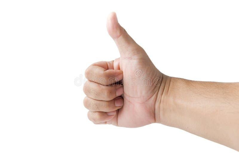 Рука при большой палец руки вверх изолированный на белой предпосылке hand isolated ok sign white woman стоковое изображение rf