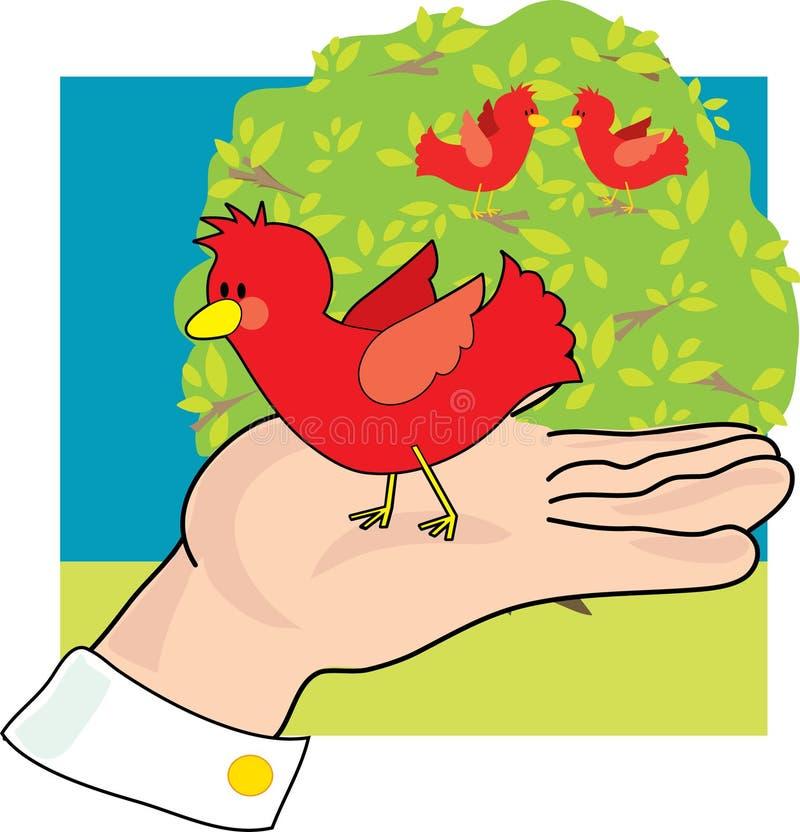 рука птицы иллюстрация вектора