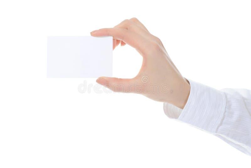 Download рука пустой карточки стоковое фото. изображение насчитывающей рука - 18383524