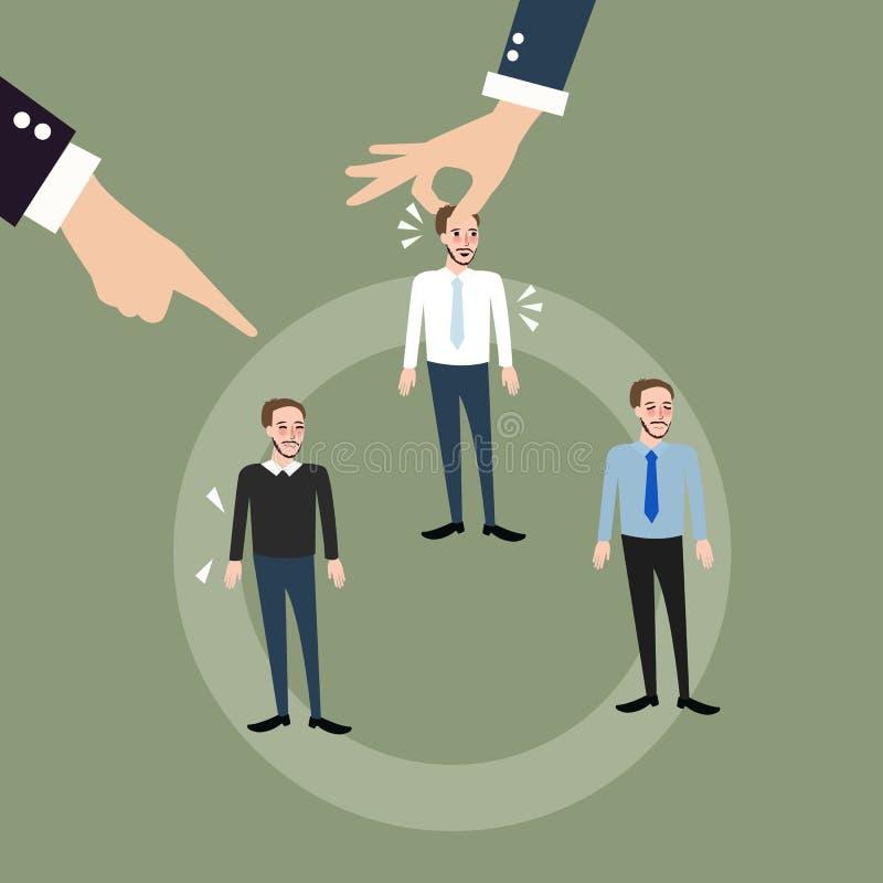 Рука работника человека - выберите заменять перегласовку вращения завальцовки положения иллюстрация штока