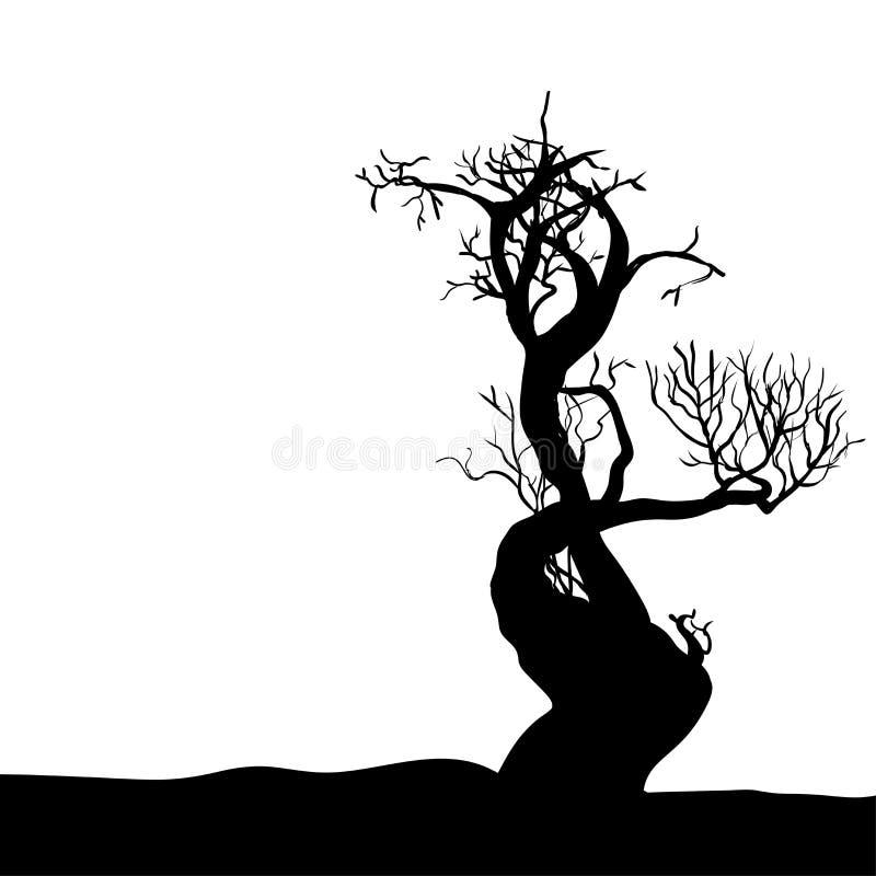 Рука рисуя иллюстрацию дерев-вектора хеллоуина бесплатная иллюстрация