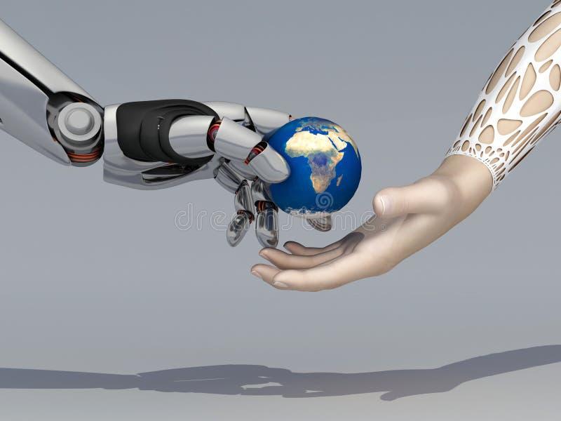Рука робота иллюстрация вектора