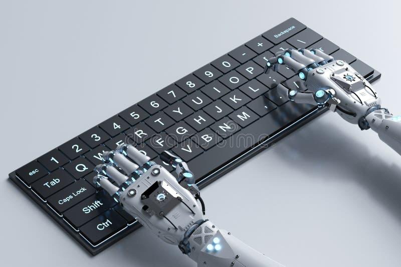 Рука робота с клавиатурой бесплатная иллюстрация