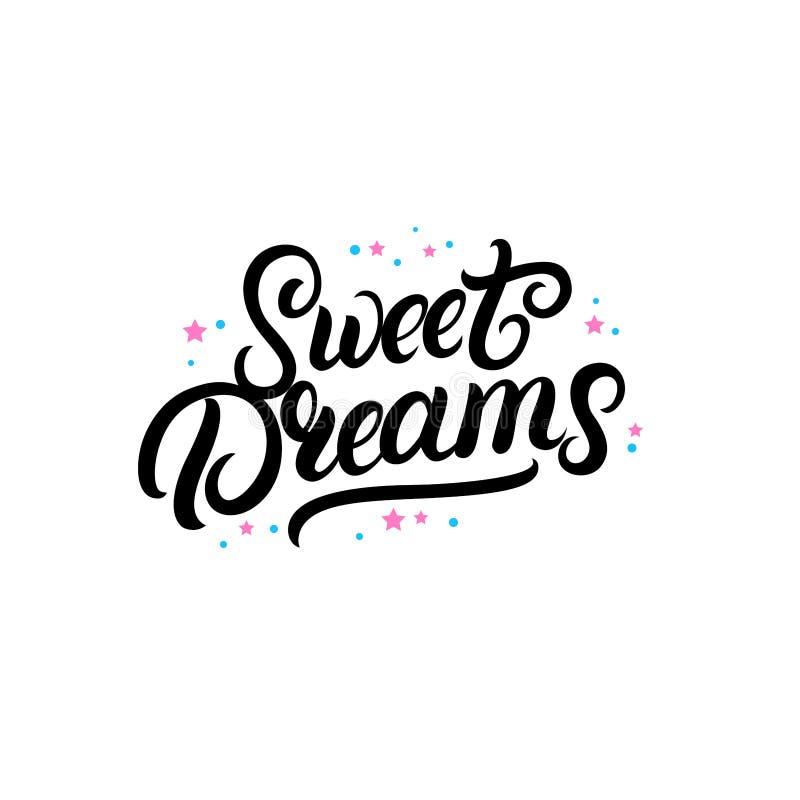 Рука сладостных мечт написанная литерность с звездами бесплатная иллюстрация
