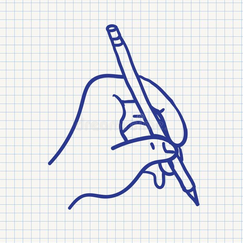 Рука сочинительства вектора стилизованная иллюстрация вектора