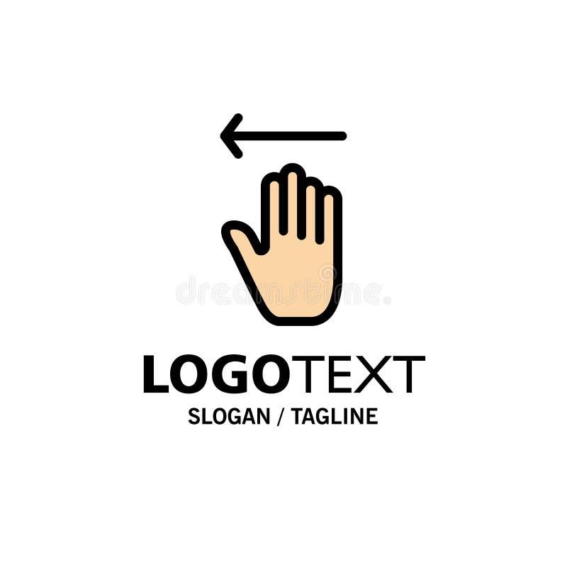 Рука, стрелка, жесты, левый шаблон логотипа дела r иллюстрация вектора