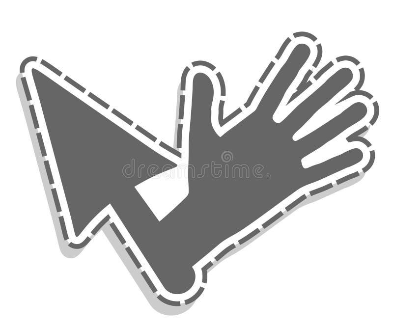 Рука стрелки иллюстрация штока