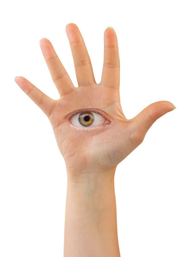 рука с глазом стоковые фотографии rf