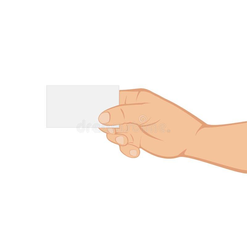 Рука с карточкой бесплатная иллюстрация