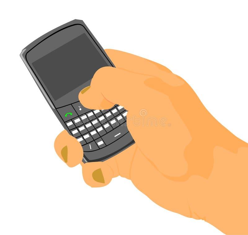 Рука с мобильным телефоном. стоковая фотография rf