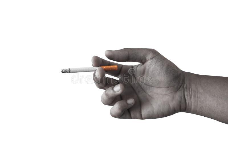 Download Рука с сигаретой стоковое фото. изображение насчитывающей опасность - 40589070