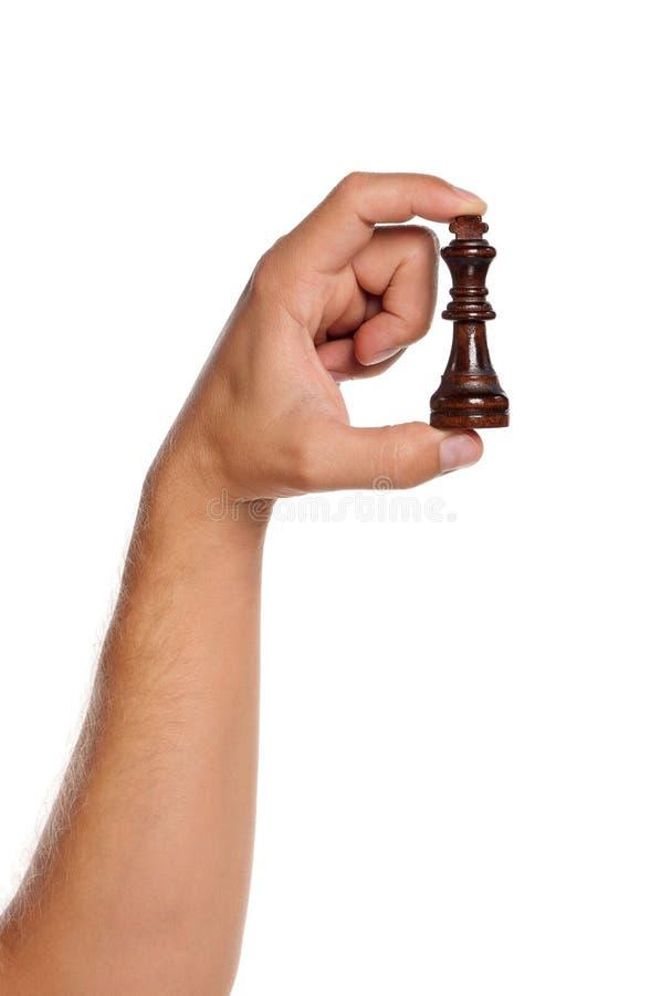 Рука с шахмат стоковое фото rf