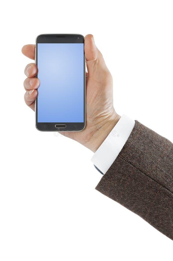 Рука с smartphone стоковые изображения