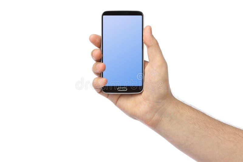Рука с smartphone стоковая фотография