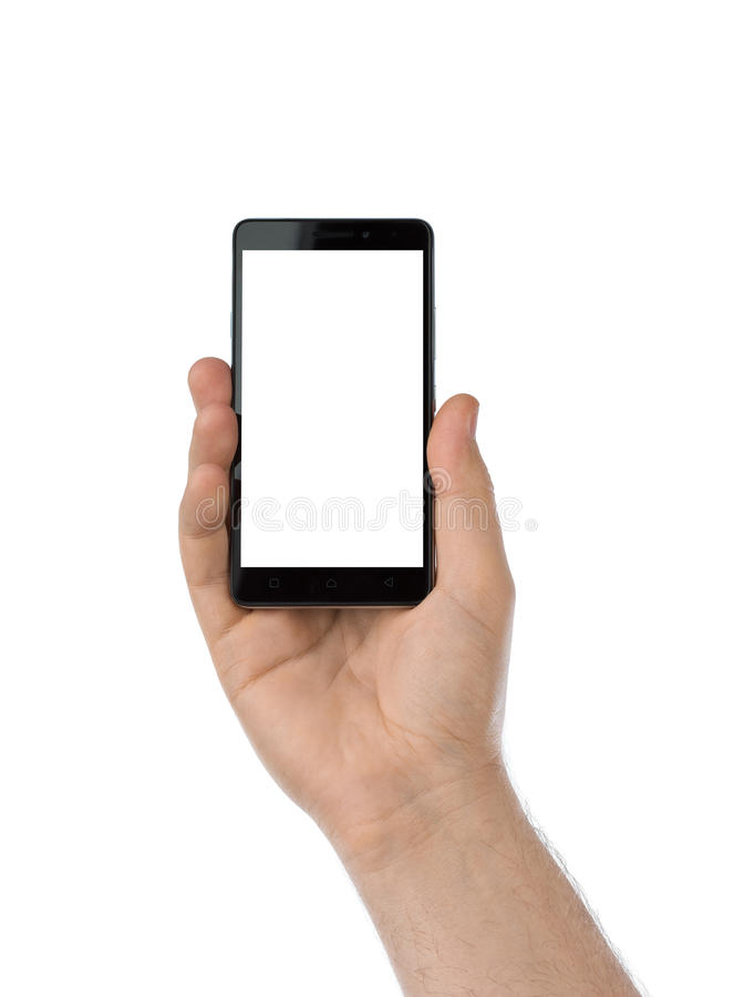 Рука с smartphone стоковые изображения rf