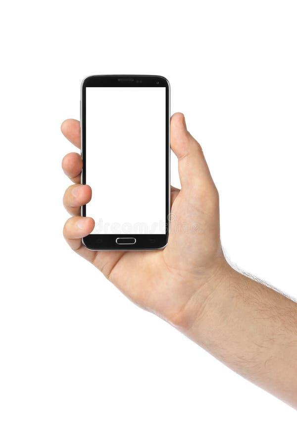 Рука с smartphone стоковое фото rf