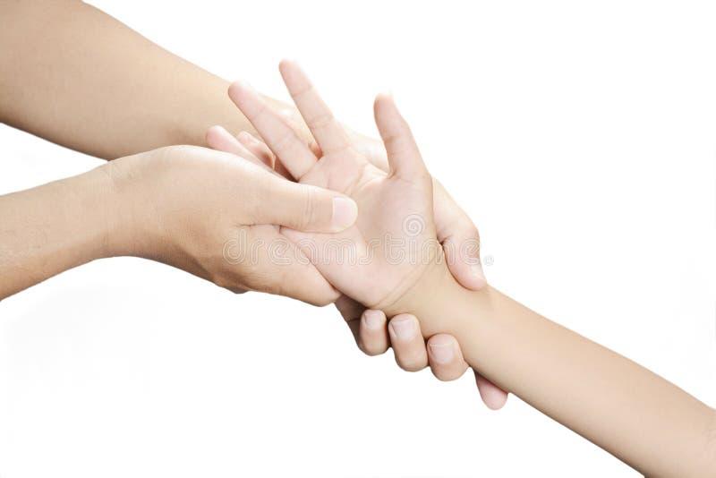 Рука точечного массажа стоковая фотография rf