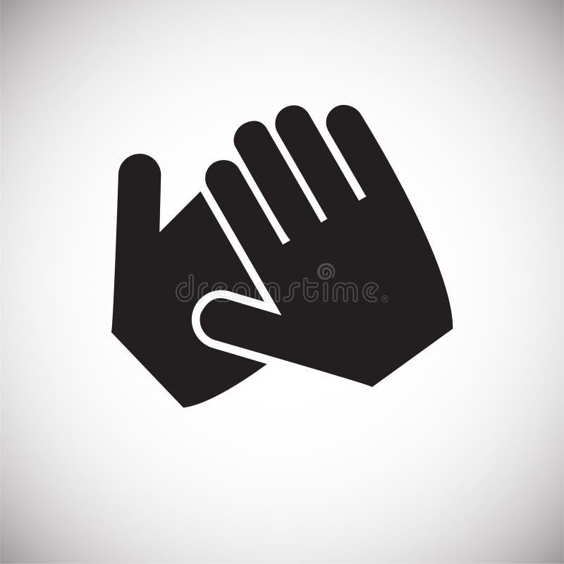 Рука тряся значок на белой предпосылке для графика и веб-дизайна, современного простого знака вектора интернет принципиальной схе бесплатная иллюстрация