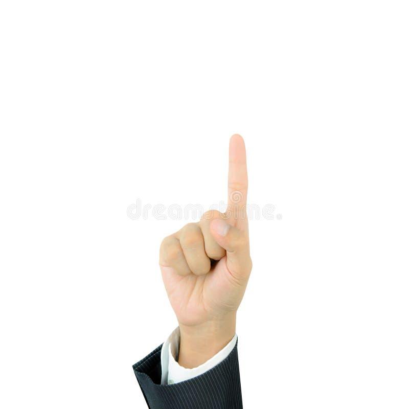 Рука указывая вверх с указательным пальцем стоковая фотография rf