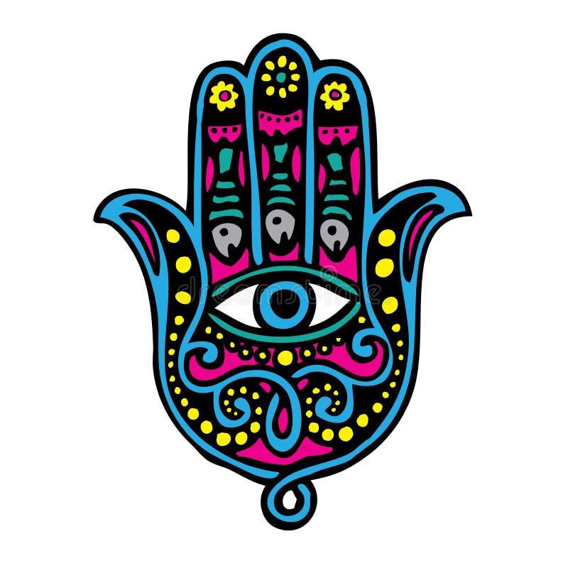 Рука Фатимы иллюстрация штока