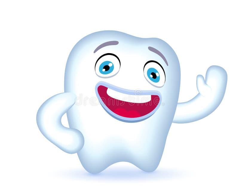 Рука характера зуба шаржа развевая в приветствии бесплатная иллюстрация