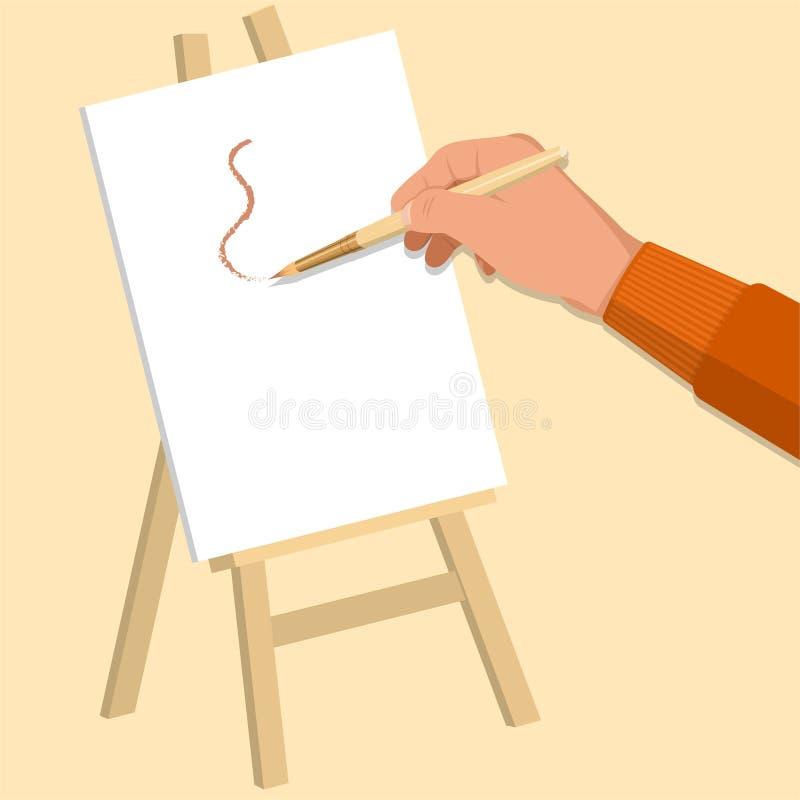 Рука художника иллюстрация вектора