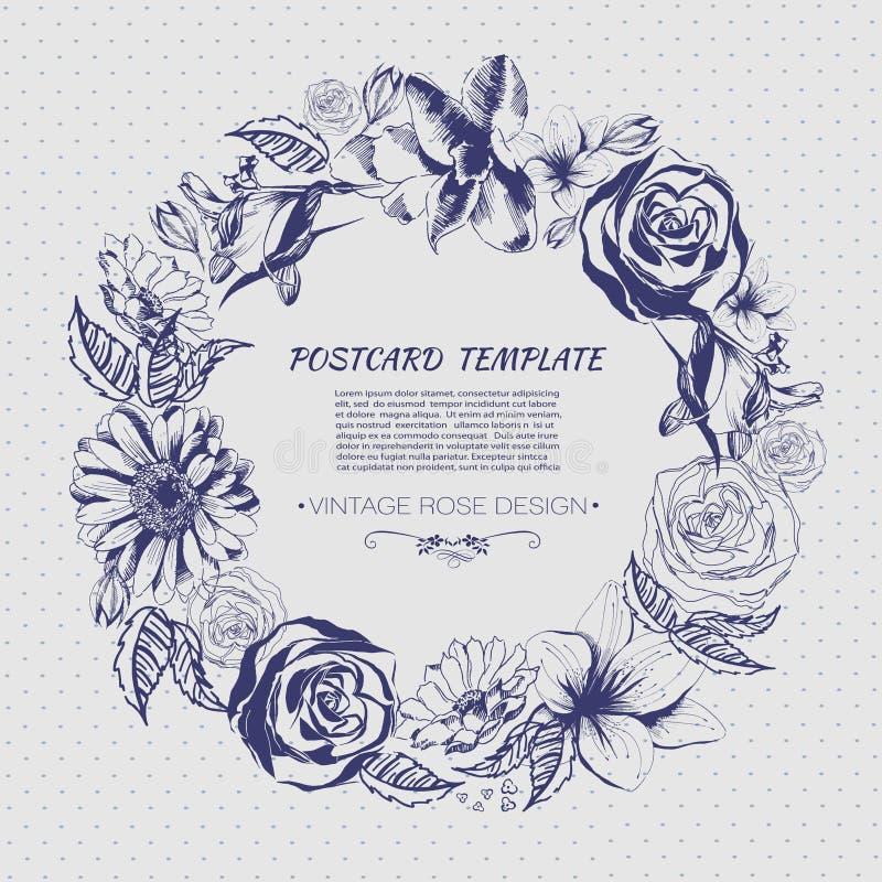 рука цветков предпосылки нарисованная цветами флористическая симпатичная бесплатная иллюстрация