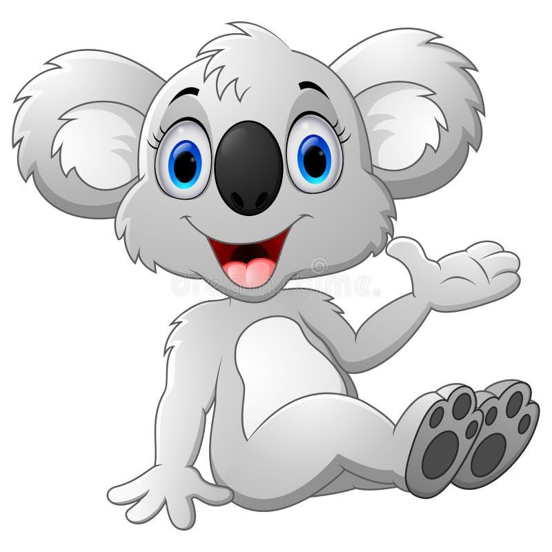 рука шаржа коалы развевая бесплатная иллюстрация