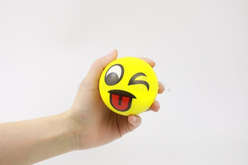 рука шарика сжумая усилие стоковые фото
