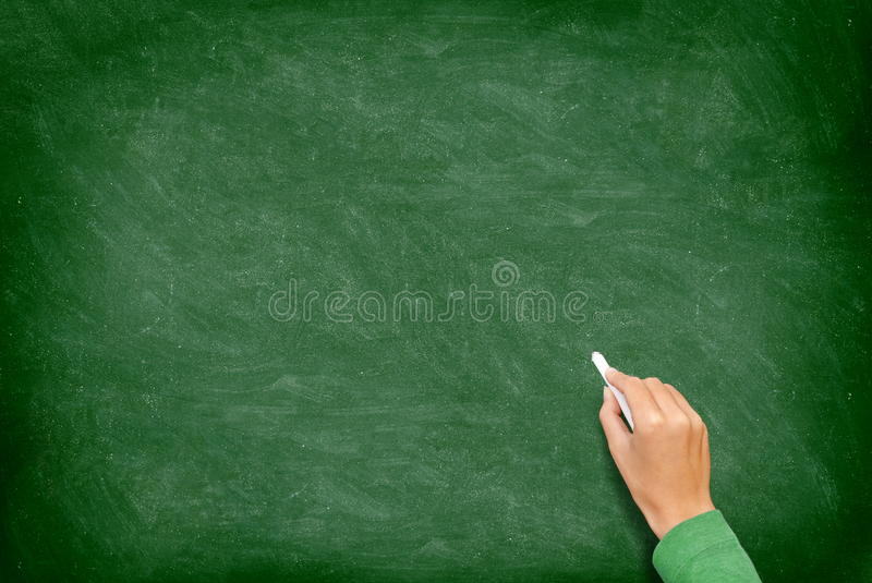 рука chalkboard классн классного стоковое фото rf