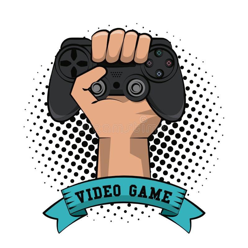 Рука Gamer с gamepad иллюстрация вектора
