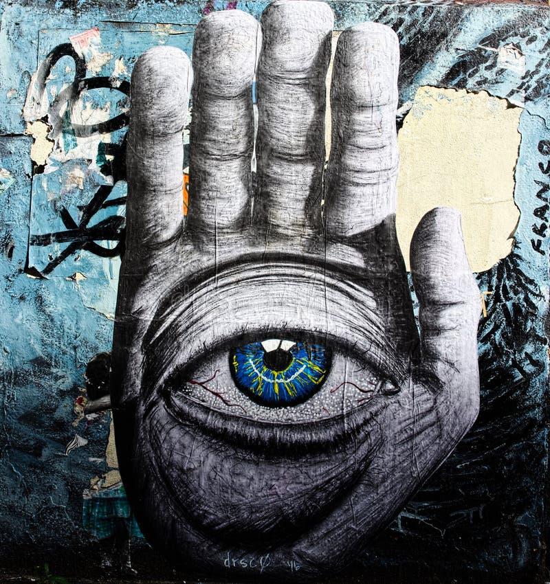 Рука Hamsa drSc Искусство улицы стоковые изображения rf