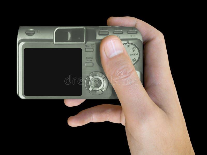 рука lcd камеры компактная стоковые фотографии rf