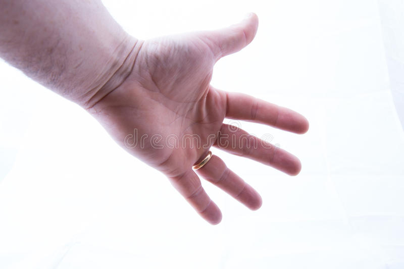 рука outstretched стоковое изображение rf