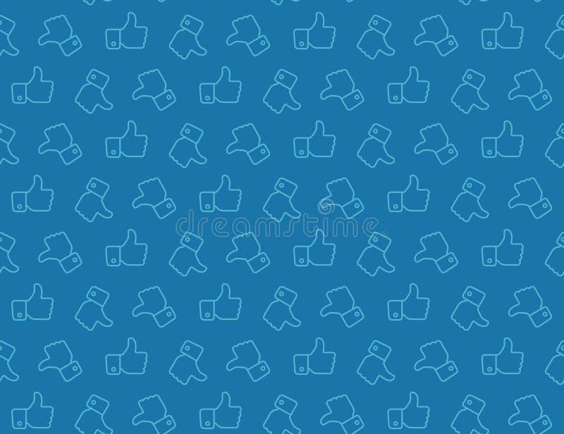Рука Thumbs вверх по картине значка безшовной бесплатная иллюстрация