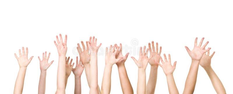 руки авиационной группы стоковое фото