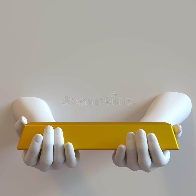 Руки бара золота стоковые фотографии rf