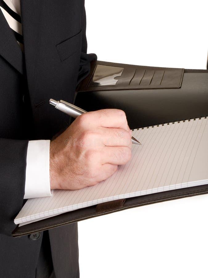 Руки - бизнесмен принимая примечания стоковые фотографии rf