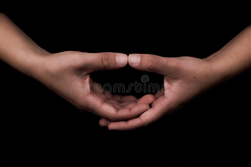 Руки в раздумье Mudra стоковая фотография rf