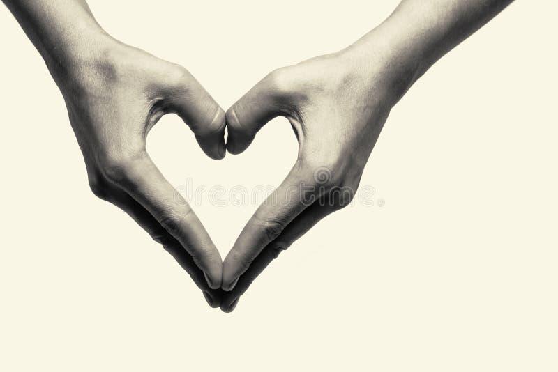 2 руки - влюбленность стоковое фото rf