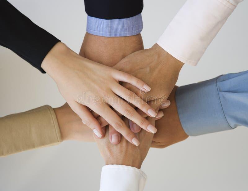 руки группы стоковое фото