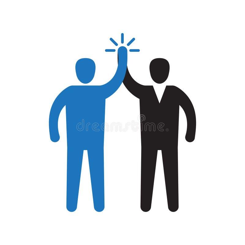 2 руки давая высокие 5 для большей работы бесплатная иллюстрация
