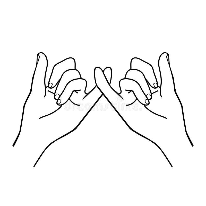 Руки делая план обещания иллюстрация штока