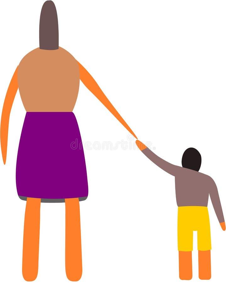 руки держа сынка мати стоковое изображение
