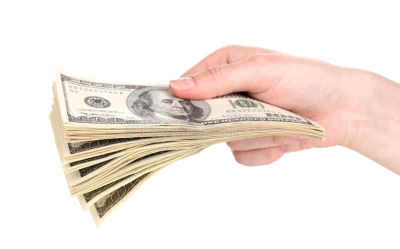 руки доллара кредиток стоковое изображение