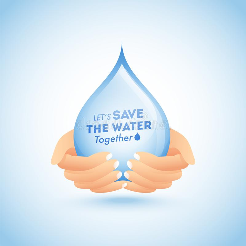 Руки защищенные для того чтобы намочить падение для спасения концепция воды бесплатная иллюстрация
