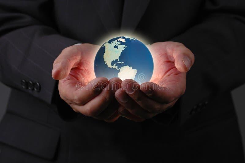 руки земли стоковое изображение