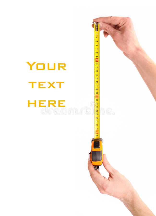 руки измеряют ленту стоковое фото rf